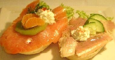 Lachs und Forelle, La Truffe Party-Service Hannover, Gourmet Event Catering