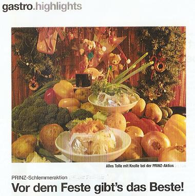 Entenbraterei, La Truffe, Party-Service Hannover, Prinz-Menue, Weihnachtsmarkt Hannover